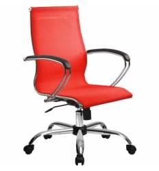 Кресло SkyLine S-2 (С, Ch) красный для руководителя, сетка
