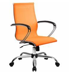 Кресло SkyLine S-2 (С, Ch) оранжевый для руководителя, сетка