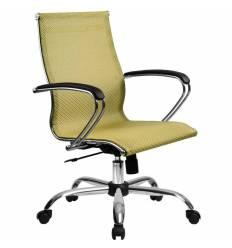 Кресло SkyLine S-2 (С, Ch) золотой ротанг для руководителя, сетка