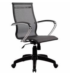 Кресло SkyLine S-2 (K, Pl) черный для руководителя, сетка