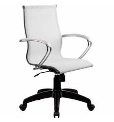 Кресло SkyLine S-2 (K, Pl) белый для руководителя, сетка