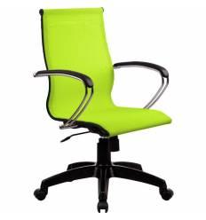 Кресло SkyLine S-2 (K, Pl) лайм для руководителя, сетка