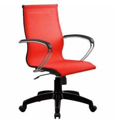 Кресло SkyLine S-2 (K, Pl) красный для руководителя, сетка
