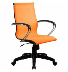 Кресло SkyLine S-2 (K, Pl) оранжевый для руководителя, сетка