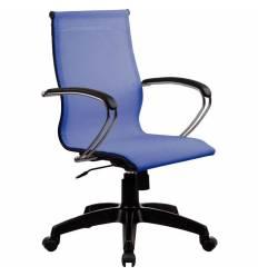 Кресло SkyLine S-2 (K, Pl) васильковый для руководителя, сетка