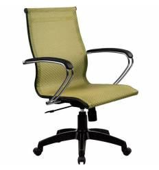 Кресло SkyLine S-2 (K, Pl) золотой ротанг для руководителя, сетка