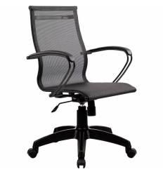 Кресло SkyLine S-2 (B, Pl) черный для руководителя, сетка