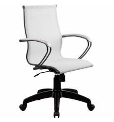 Кресло SkyLine S-2 (B, Pl) белый для руководителя, сетка