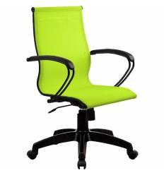 Кресло SkyLine S-2 (B, Pl) лайм для руководителя, сетка