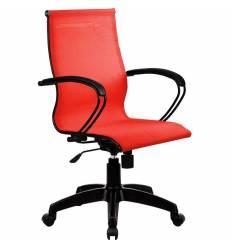 Кресло SkyLine S-2 (B, Pl) красный для руководителя, сетка