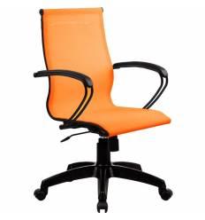Кресло SkyLine S-2 (B, Pl) оранжевый для руководителя, сетка