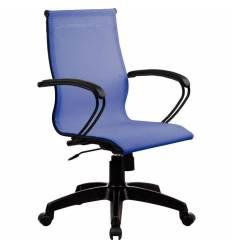 Кресло SkyLine S-2 (B, Pl) васильковый для руководителя, сетка