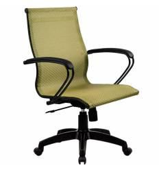 Кресло SkyLine S-2 (B, Pl) золотой ротанг для руководителя, сетка