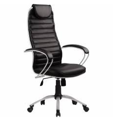 Кресло Metta BA-5 AL черный для руководителя, кожа (Галакси Ультра)