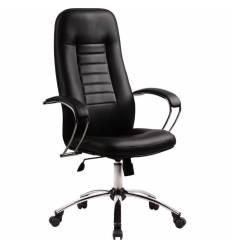 Кресло Metta BK-2 CH черный для руководителя, кожа (Пилот)