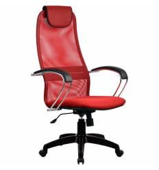 Кресло Metta BK-8 PL красный для руководителя, сетка/ткань (Галакси лайт)
