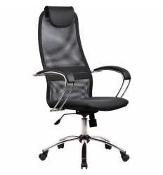 Кресло Metta BK-8 CH темно-серый для руководителя, сетка/ткань (Галакси лайт)