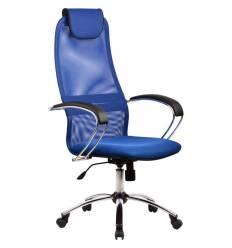 Кресло Metta BK-8 CH синий для руководителя, сетка/ткань (Галакси лайт)