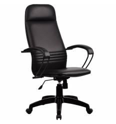 Кресло Metta BP-1 PL черный для руководителя, экокожа (Пилот)