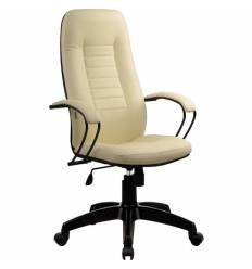 Кресло Metta BP-2 PL бежевый для руководителя, кожа (Пилот)
