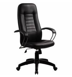 Кресло Metta BP-2 PL черный для руководителя, кожа (Пилот)