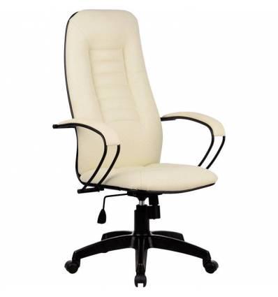 Кресло Metta BP-2 PL бежевый для руководителя, экокожа (Пилот)