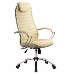 Кресло Metta BC-5 CH бежевый для руководителя, кожа (Галакси Ультра)