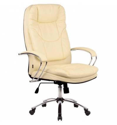 Кресло Metta LK-11 CH бежевый для руководителя, кожа