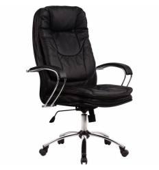 Кресло Metta LK-11 CH черный для руководителя, кожа