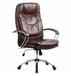 Кресло Metta LK-11 CH коричневый для руководителя, кожа