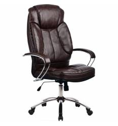 Кресло Metta LK-12 CH коричневый для руководителя, кожа