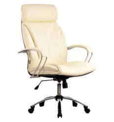 Кресло Metta LK-13 CH бежевый для руководителя, кожа