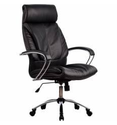 Кресло Metta LK-13 CH черный для руководителя, кожа