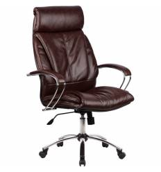Кресло Metta LK-13 CH коричневый для руководителя, кожа