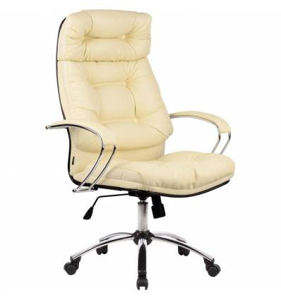 Кресло Metta LK-14 CH бежевый для руководителя, кожа