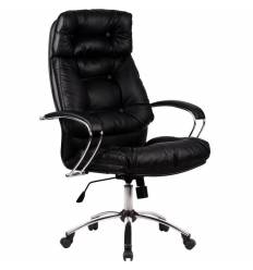 Кресло Metta LK-14 CH черный для руководителя, кожа