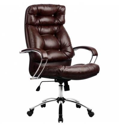 Кресло Metta LK-14 CH коричневый для руководителя, кожа
