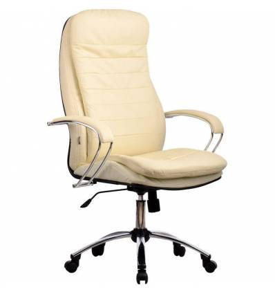 Кресло Metta LK-3 CH бежевый для руководителя, кожа