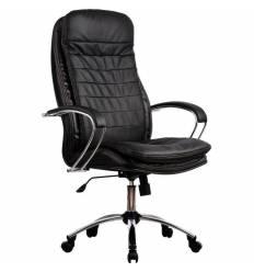 Кресло Metta LK-3 CH черный для руководителя, кожа