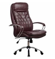 Кресло Metta LK-3 CH бордовый для руководителя, кожа