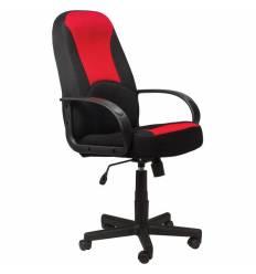 Кресло BRABIX City EX-512 для руководителя, ткань TW, черный/красный