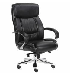 Кресло BRABIX Direct EX-580 для руководителя, хром, рециклированная кожа, черное