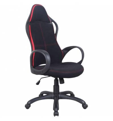 Кресло BRABIX Force EX-516 для руководителя, ткань, черное, вставки красные