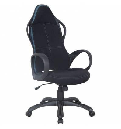 Кресло BRABIX Force EX-516 для руководителя, ткань, черное, вставки синие