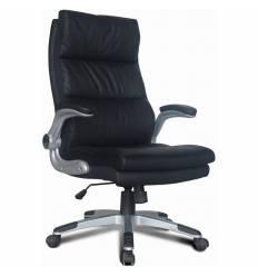 Кресло BRABIX Fregat EX-510 для руководителя, рециклированная кожа, черное