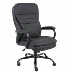 Кресло BRABIX Heavy Duty HD-001 для руководителя, усиленное до 200 кг, экокожа, черное
