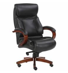 Кресло BRABIX Infinity EX-707 для руководителя, дерево, натуральная кожа, черное