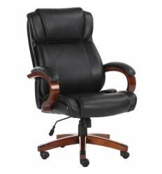 Кресло BRABIX Magnum EX-701 для руководителя, дерево, рециклированная кожа, черное