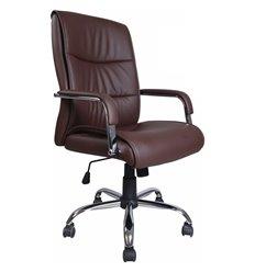 Кресло BRABIX Space EX-508 для руководителя, хром, экокожа, коричневое