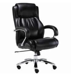 Кресло BRABIX Status HD-003 для руководителя, хром, усиленное до 250 кг, рециклированная кожа, черное